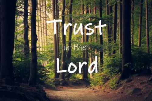 Trusting in God!